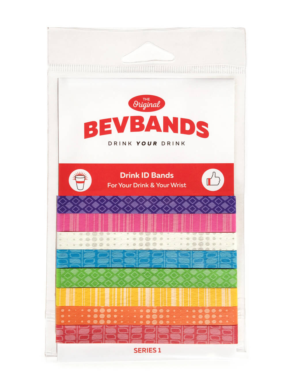 BevBands Drink Markers and Everyday Drink Band ID for Cups