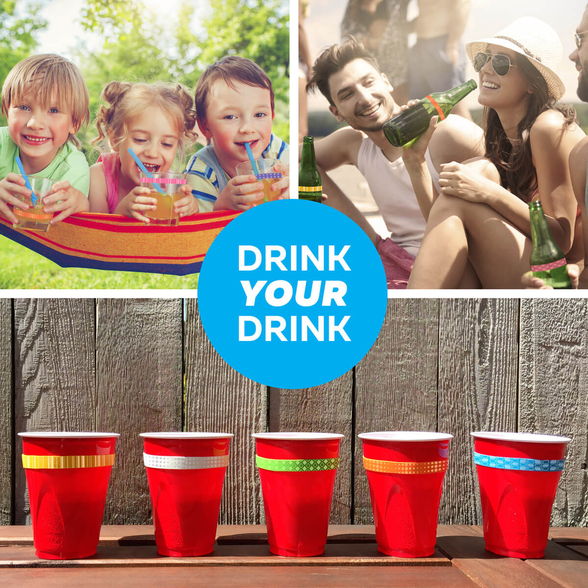 Kids Cup Bands Drink ID